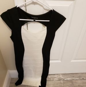 Express black and White dress
